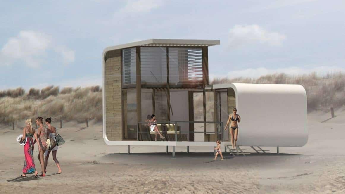 Strandhuisjes Nieuwvliet
