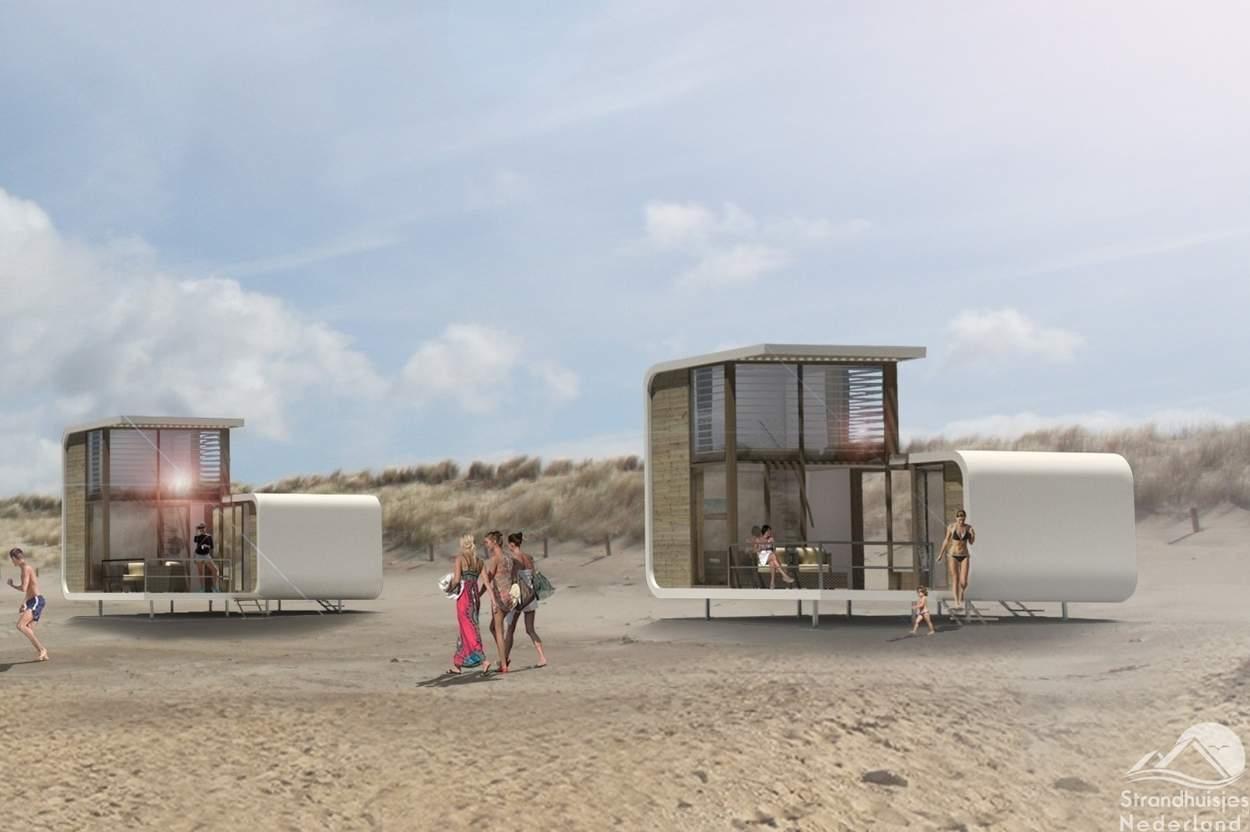 Strandhuisjes-Nieuwvliet-Bad