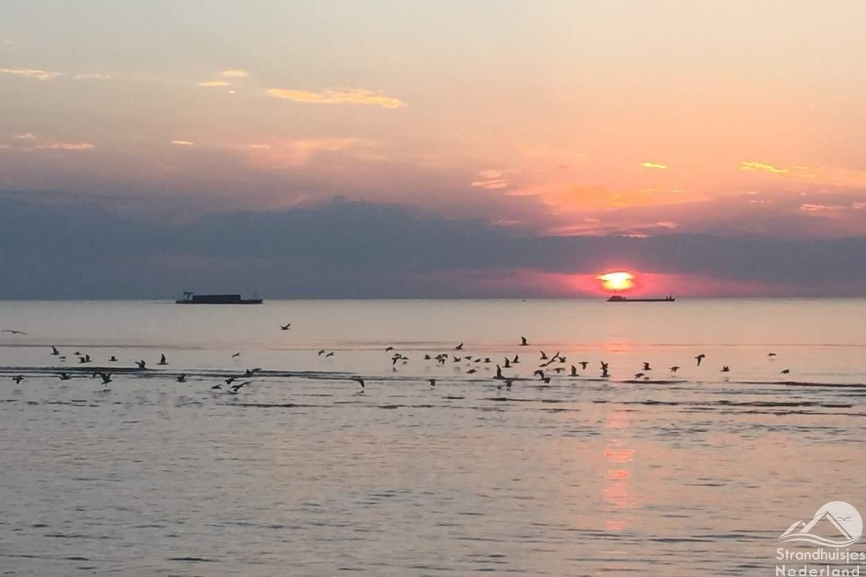 Zonsondergang-strand-Nieuwvliet