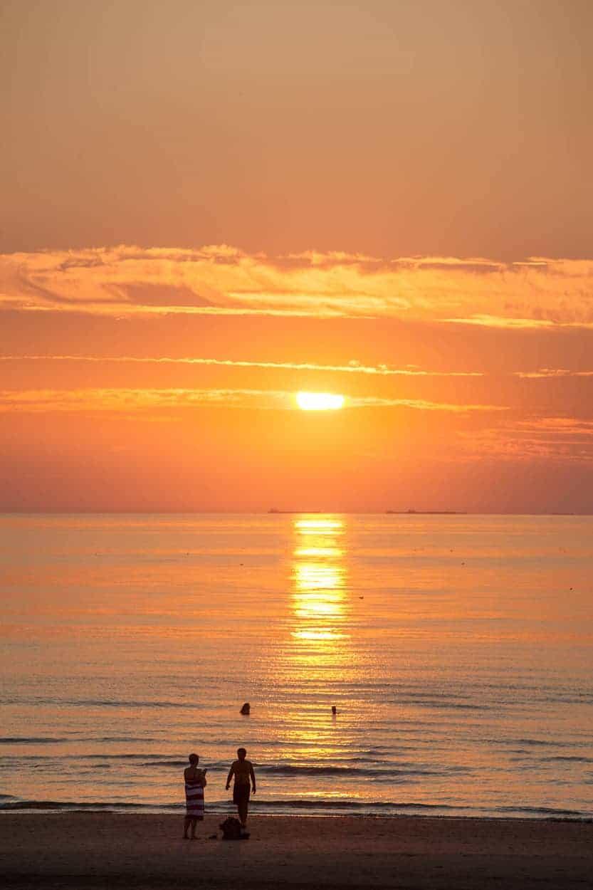 Strand-Wijk-aan-Zee-zonsondergang-2