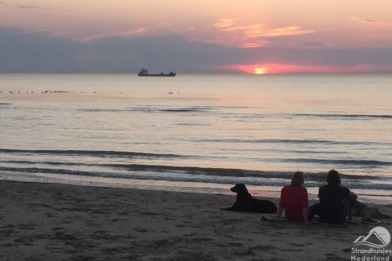 Strand-Nieuwvliet-Bad-zonsondergang