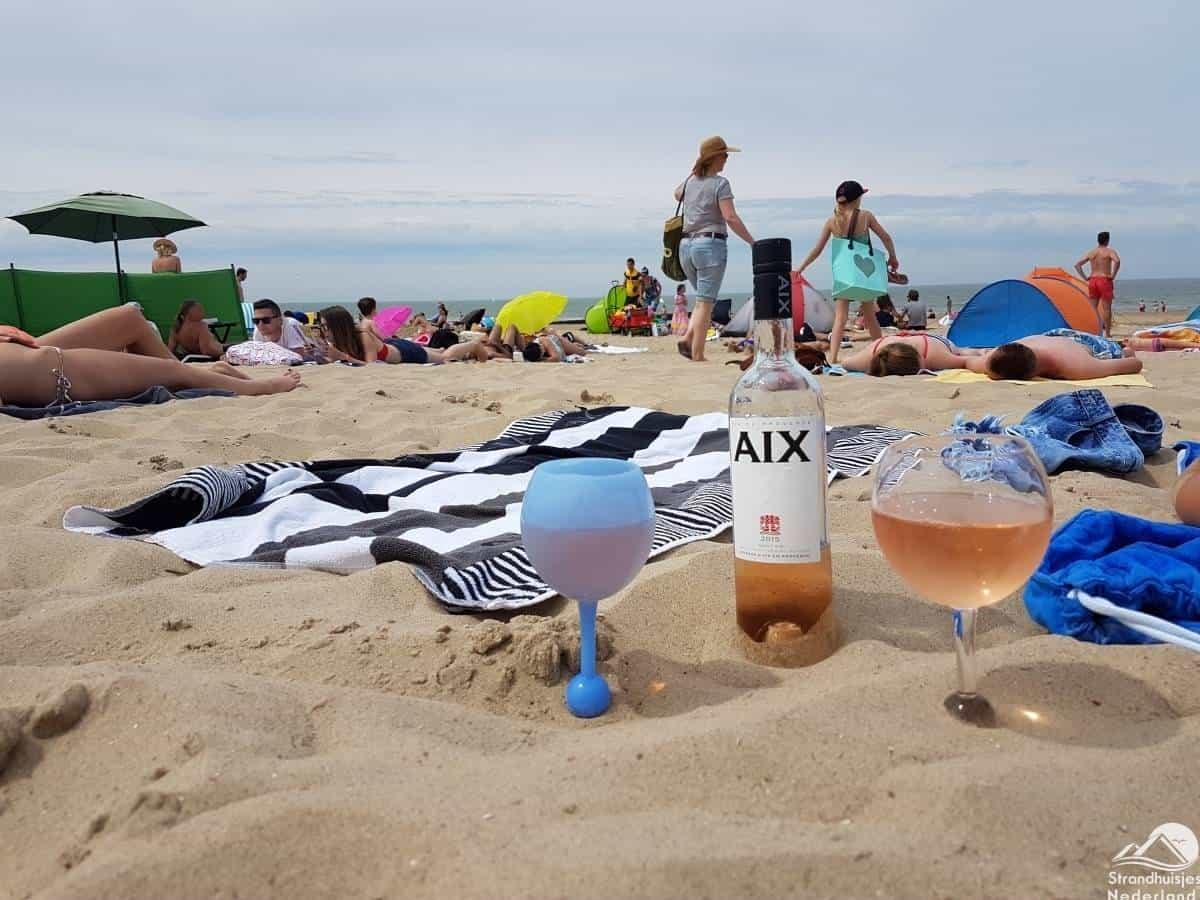strand-wijnglas