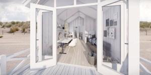 Interieur strandhuisje Kijkduin