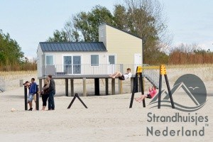 strandhuisje strand Kamperland Zeeland