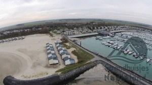 strandhuisjes met haventje