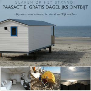 Paasactie aan zee slapen 2016