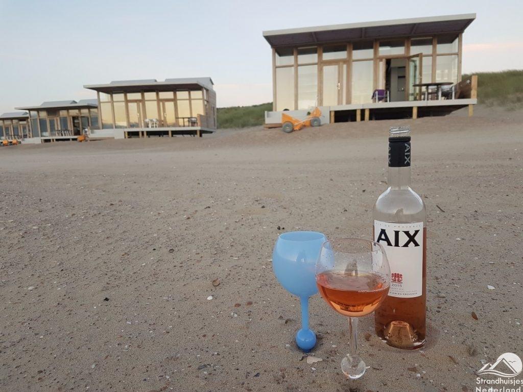 Weinglas für Strandhäuser Cadzand-Bad