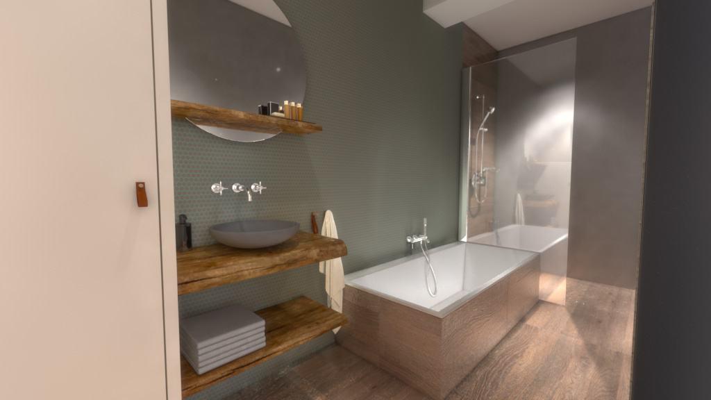 Badkamer 2-personen Strandhuisje Deluxe