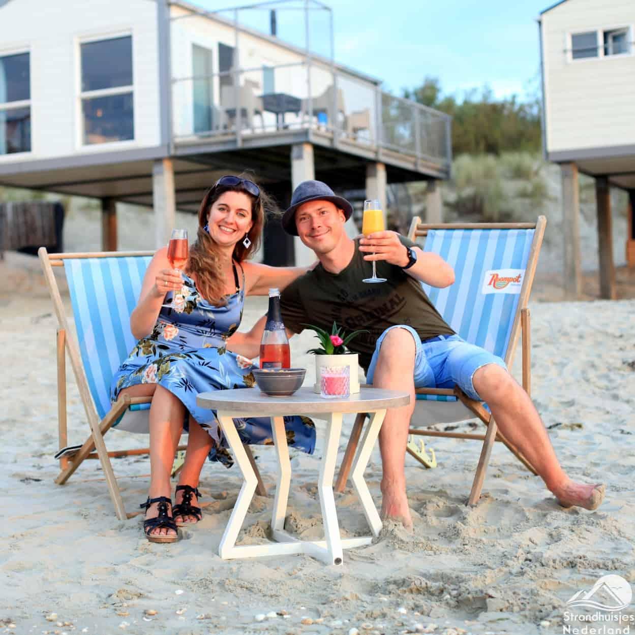 Toast am Strand beherbergt Kamperland.