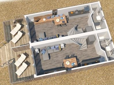 Plattegrond strandhuisje Hoek van Holland