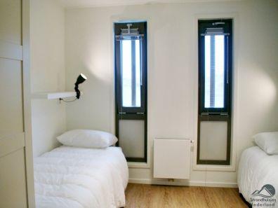 slaapkamer strandhuisje Hoek van Hollland