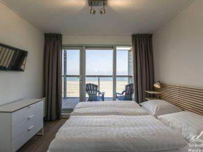 slaapkamer strandhuisje Hoek van Holland